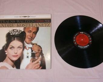 STRAUSS WALTZES - Andre Kostelanetz Vinyl music lp record Album - CS 8162