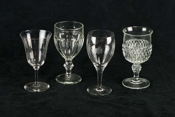 Mismatched Goblets In Crystal 4 Piece Set By TheRealmCollectibles