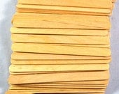 100 Piece Wooden Popsicle Sticks Natural