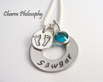 New Baby Name Necklace - Personalized Child's Name Jewelry - Mom to Be - Gifts for New Moms - Baby Shower Gift