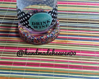 Handmade Resin Personal Coaster with real Sprinkles