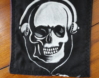 Skull With Headphones Patch