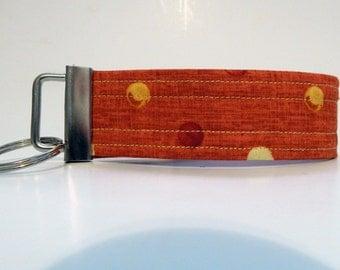 Orange Wristlet Keychain / Key Fob