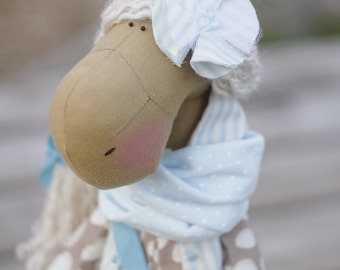 Horse Doll, Fabric Doll, Rag doll, Handmade fabric doll, custom made decorative doll