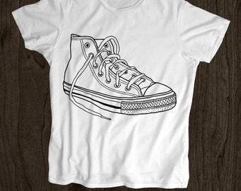 Sneakers T Shirt -Kids T Shirt -Toddler Shirt - Screen Printed -100% Cotton-