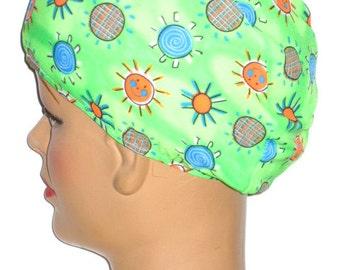 Sunshine Print Cloth Swim Cap