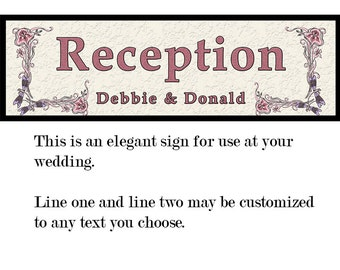 Wedding/Party Signage Printed On Fine Art Paper, Mounted and Ready To Hang For Your Event or Home Decor and Free Shipping
