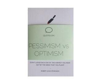 Pessimism and Optimism Quotes- Set of 5 prints- 6x4