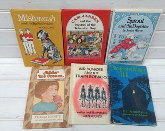 Lot of Vintage Weekly Reader Books Children's Hardcovers SIX 1970's 1980's Retro (034.2)