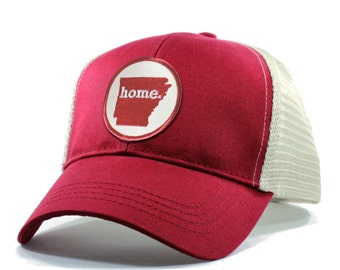 Homeland Tees Arkansas Home Trucker Hat - Red Patch