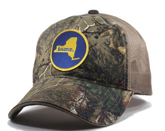 Homeland Tees New York Home State Realtree Camo Trucker Hat