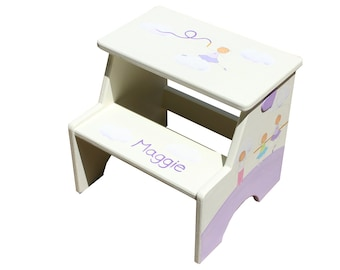 Toddler Girl Gift, Girls Step Stool, Personalized Step Stool, Personalized Kids Gifts, Baby Name Gift, Kids Names, Purple Furniture