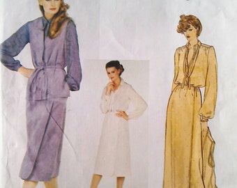 70s Vogue dress patterns 2097 bust 36 inches Bill Blass 1970s, vintage sewing patterns