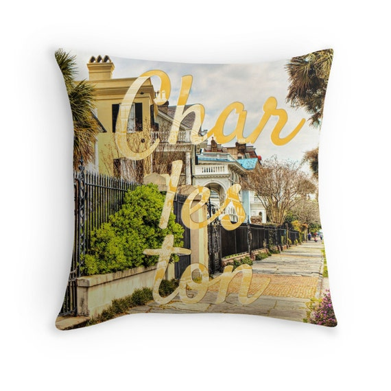 Charleston Photo Pillow South Carolina Decor Throw Pillow