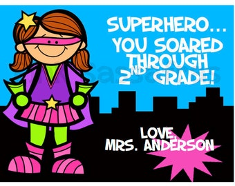 Super Hero End of the Year Gift Tags