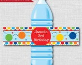 Bouncy Ball Party Water Bottle Label - Ball Themed Birthday - Weatherproof Water Bottle Labels - Digital or Handcrafted - FREE SHIPPING