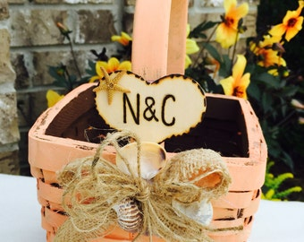 Flower Girl Basket - Rustic Wedding - Birch Bark Basket - Wedding Decor