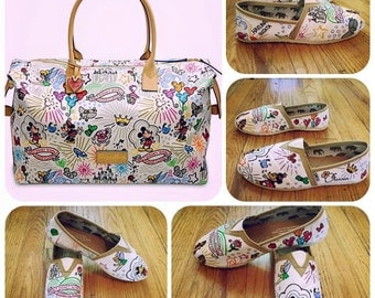ADORABLE Disney Themed Toms [Dooney and Bourke Style Toms] Disney Toms. Can be made on Disney Vans or Disney Converse.