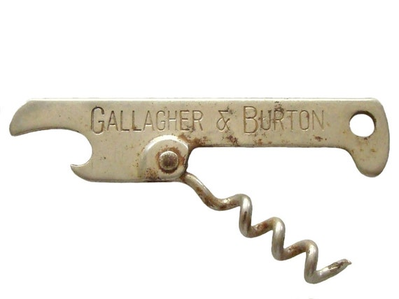 vintage nifty key chain corkscrew bottle opener gallagher. Black Bedroom Furniture Sets. Home Design Ideas
