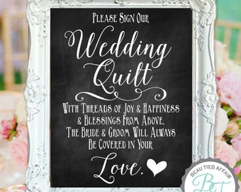 Wedding Quilt DIGITAL PRINT • Please Sign Our Wedding Quilt