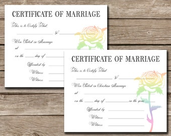 from Beckett gay marriage certificates