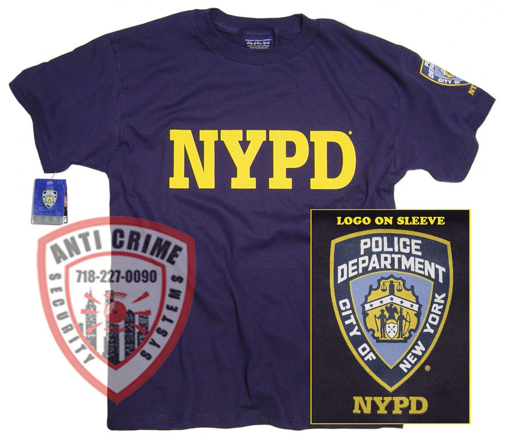 NYPD Shirt T-Shirt Officially Licensed Clothing Apparel By The