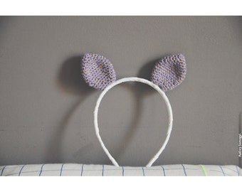 Cat ears violet with wire hook gold