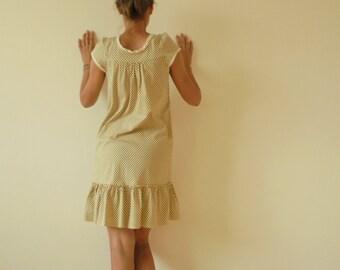 Vintege  Dress.High-Quality Dress.Women  Dress.cotton.