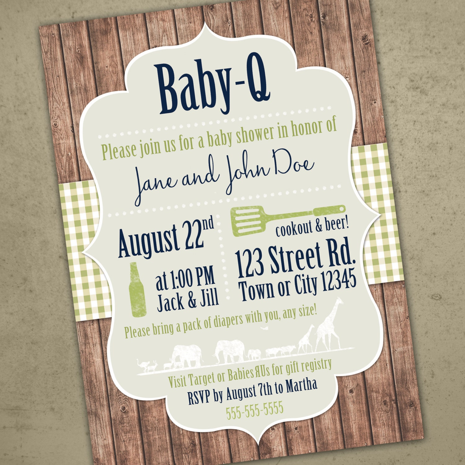 bbq baby shower rustic baby invite summer bbq shower baby q
