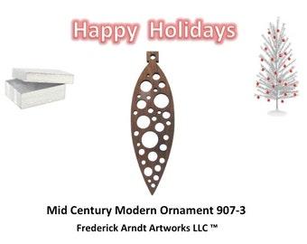 907-3 Mid Century Modern Christmas Ornament
