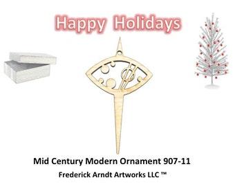 907-11 Mid Century Modern Christmas Ornament