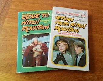 Two Disney Witch Mountain Paperback Books Vintage 1970s
