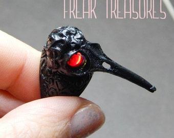 9 size Hummingbird skull ring