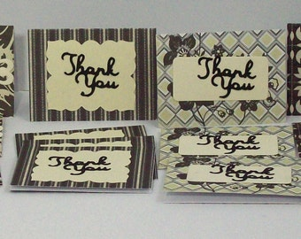 24 Thank You Mini Cards, Mini Cards, Small Thank You Cards, Thank You Cards, Handmade Thank You Cards