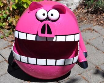 Crazy Pig Propane Tank Sculpture