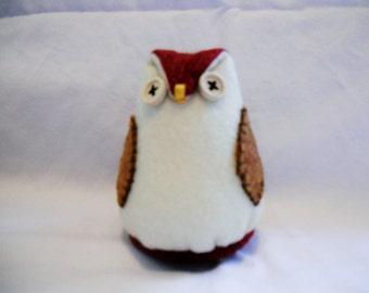 Decorative Stuffed Owl, Shelf Owl, Felt Owl. Owl Softie,Owl, Owl Decor