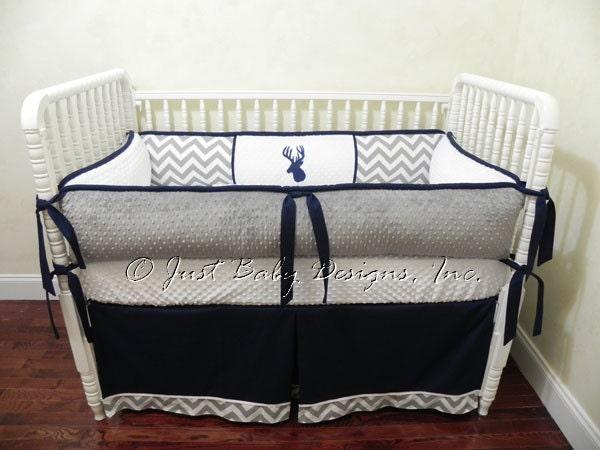 Custom Crib Bedding Set Trevor Baby Boy Bedding Deer Baby