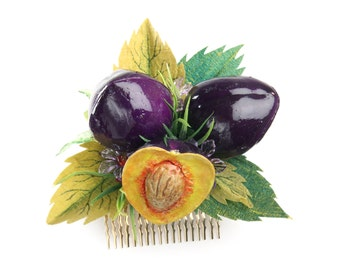 Plums Hair Comb