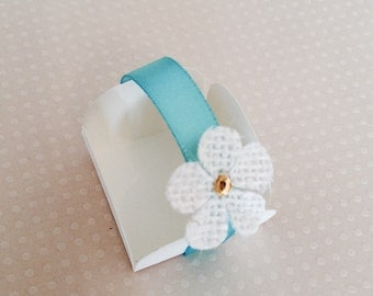 12 Ivory/turquoise Cake Ball - Cake Pop - Chocolate truffle wrapper papers, liners or favor box.