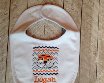 Tiger Personalized Bib-baby bib-personalized bib-newborn gift