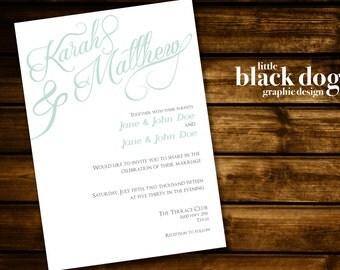 Plain & Simple Wedding Invitation