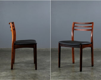 Pair of Rosewood Danish Modern Dining Chairs