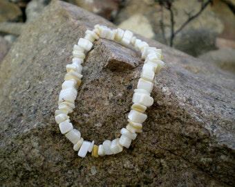 Elastic bracelet with white stones bone woman elastic bracelet, handmade bracelet bone white teenage stones bracelet
