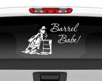 Barrel Racing Decal Etsy - Barrel racing custom vinyl decals for trucks