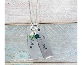 child signature handwriting personalized  necklace