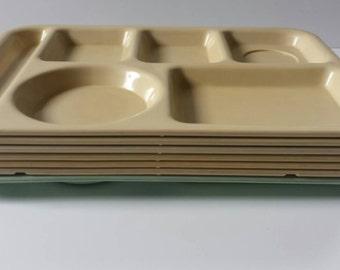 SALE**Vintage Mid Century Melamine SiLite Cafeteria Lunch Trays