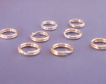 10 Gold Filled 6mm Split Jump Rings, Double Looped