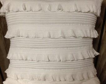 Shabby Chic Ruffled Pillow