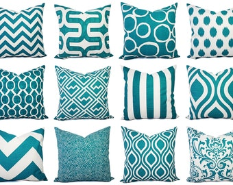 Etsy Teal Throw Pillow : Teal throw pillow Etsy