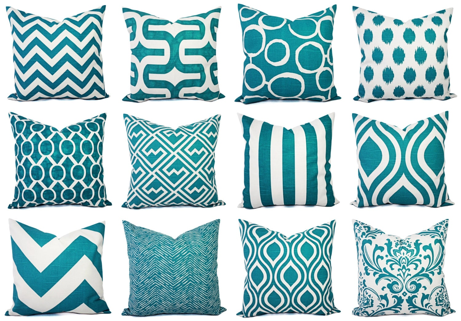 teal couch pillow covers turquoise pillow by castawaycovedecor. Black Bedroom Furniture Sets. Home Design Ideas
